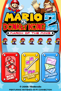 Mario vs. Donkey Kong 2 March of the Minis title.png